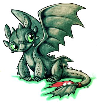 Toothless by pyrokeet