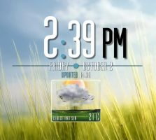 Agency Clock Weather for xwidget by jimking