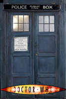 Old Tardis Doors iPhone bg by gameover89