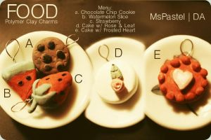 Polymer Clay Foods by MsPastel