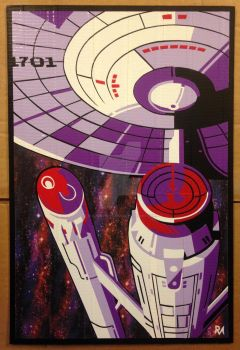 Enterprise Duct Tape Art by DuctTapeDesigns