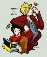 Merlin+Long Live the King by xanseviera