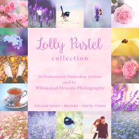 Lolly Pastel Photoshop Action Collection by Whimsical-Dreams