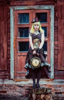 Steampunk Lady 4 by 13-Melissa-Salvatore