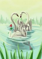 anthro swans by Silverbloodwolf98