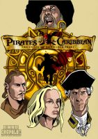 Pirates of the Caribbeans poster by GabeCrepaldiArt