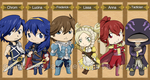 Chibi Fire Emblem Awakening bookmarks by AznCeestar