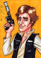 Han Solo Sketch Card by Artassassin
