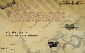 Font champagne by RulesMonster