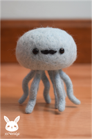 Felted Mustache Jellyfish by xxNostalgic