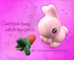 Sweet bunny with tiny carrot by BoRn2DaNcEoNiCe
