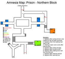 Amnesia Map: Prison - NB by HideTheDecay