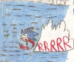 Sonic The Hedgehog Running On Water by shadow759