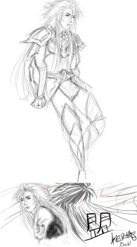 [St Seiya] - Some sketches ft. Coma Berenices Mei by Beuah