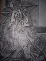 Pablo Picasso weeping woman by 1chick1