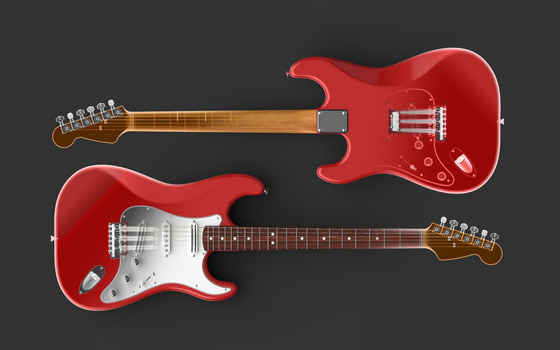 Stratocaster X-Ray by zpaolo