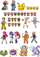 Really Old Pokemon Sprites by TuxedoMoroboshi