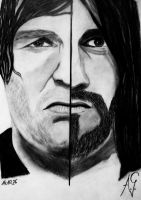 Dean Ambrose and Seth Rollins by Aiswy by Dixonija