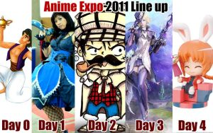 Anime Expo 2011 Line Up by JoLuffiroSauce