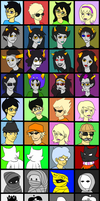 80 Homestuck Characters by EzzyAlpha