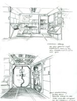 Scout Interior sketches by Sabakakrazny
