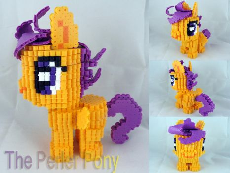 3D Perler Bead Silly Filly Scootaloo by Perler-Pony