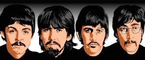 Beatles pop vector by choffman36