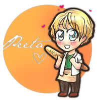 THG - The chibi-boy with the chibi-bread by An-Haruno-Girl