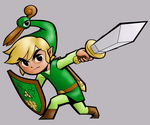 Link and the Minnish Cap Color by Magharabi