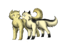 Blackpaw and Sunpaw by Amerikat