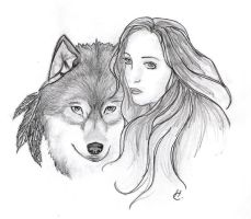 Lady and the Wolf by bloodyvampire18