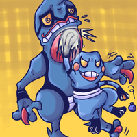 Croagunk Vs Toxicroak by RKPiratedrawer