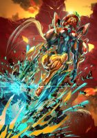 Her name is Samus Aran by tommasorenieri