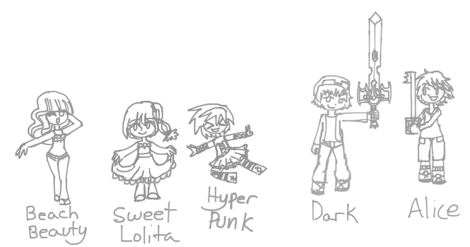 Random awesome chibis by lovelybunny11