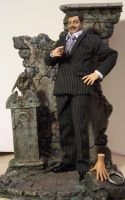 Gomez Addams and Thing Doll Customs by cbgorby
