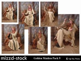 Golden Maiden Pack 9 by mizzd-stock