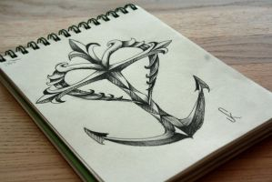 Cross_Heart_Anchor Tattoodesign by PanthersHonor