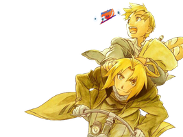 Edward and Alphonse in a bike with bread by vicjusmar