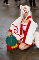 Sitting - Cosplay Amaterasu [OKAMI] ver. 2 by Karinui