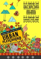 URBAN PLAYGROUND poster by rozemary