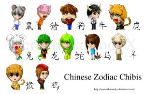 Chinese Zodiac Chibis Set by EveilleCosplay