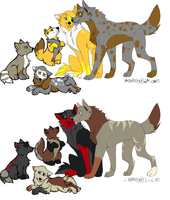 wolf adoptable's by poisonflame