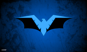 Nightwing - Batman Logo Wallpaper by elclon