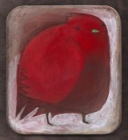 Red Bird Tin by SethFitts