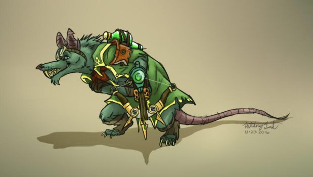 Twitch the Rat - League of Legends by GoldenWoof