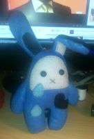 Sad Bunny Plushie by passionfyre
