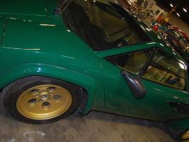 Green and gold Lambo Countach by Partywave