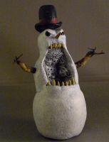 A Sinister Snowman by CreatureSH