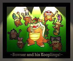 Bowser and his Koopalings by GG-lover