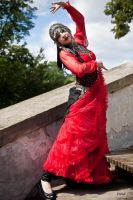 STOCK - Oriental Goth - flamenco- inspired pose by Apsara-Art